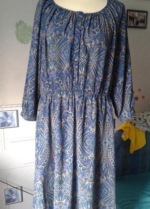 Стильное платье из натуральной ткани р 50 incity