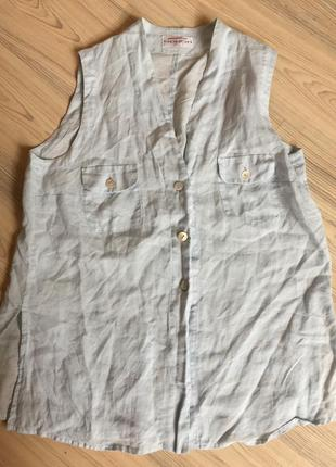 Блуза лен apriori /гр.escada