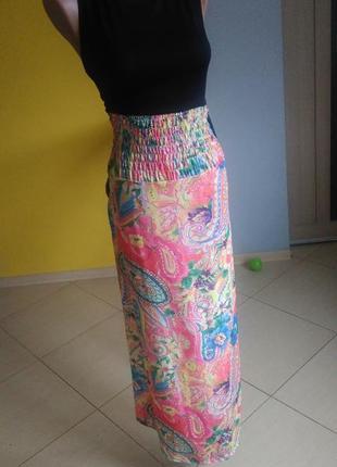 Платье длинное сарафан м узор принт сукня довга летнее