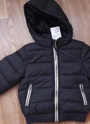 Теплая новая куртка на мальчика h&m 2-3 года (98 р.)