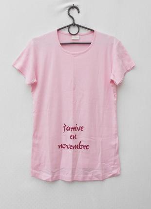 Хлопковая футболка для беременных с надписью aulie der moir