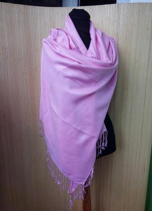 Розовый палантин/ шарф/ парэо / хиджаб / платок