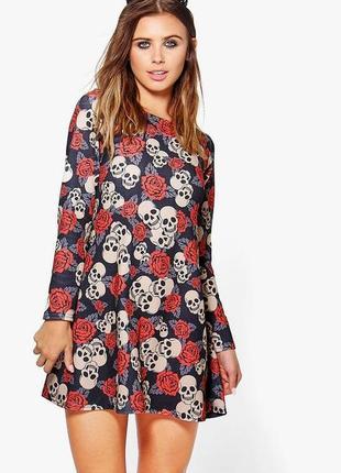 Классное платье розы от boohoo