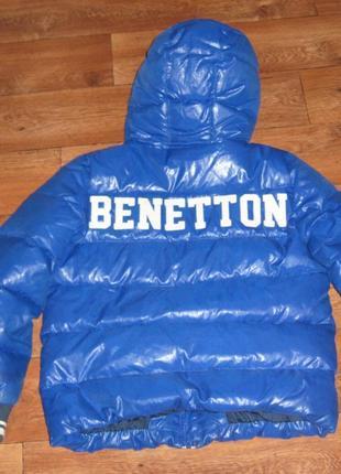 Пуховик, зимняя куртка benetton р.146,