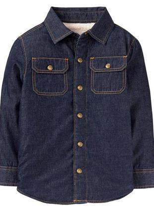 Ветровка рубашка на шерпе для мальчика 12-14 лет crazy8