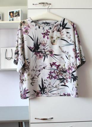 Блузочка в орхидеи от marks&spencer