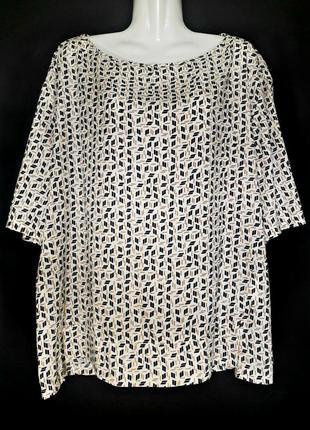 Легкая блуза с принтом, 100% модаль р.16-18