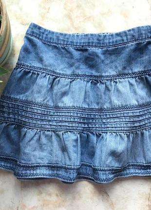 Легкая джинсовая юбка фирмы h&m на возраст 4 года