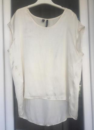 Mango нежнейшая кремовая блуза размер м