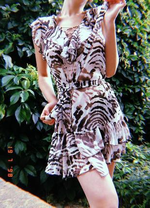 Платье из шифона, туника на море тигровая