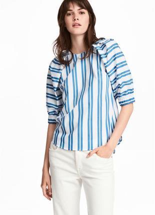 Хлопковая блуза полосатая блузка в полоску