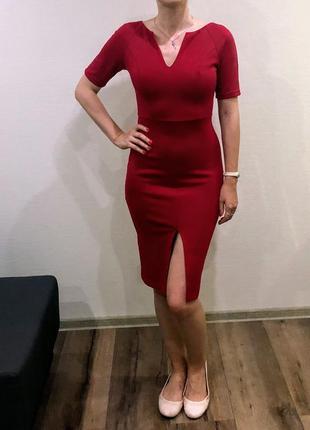 Красное вечернее платье skhouse