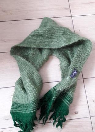 Ангоровый шарф-капюшон