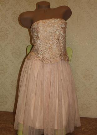 Платье-пачка новое бежевое, р.l-xl