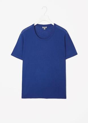 Ярко синяя футболка cos