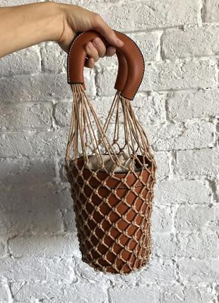 Сумка бочонок, сумка ведро, круглая сумка