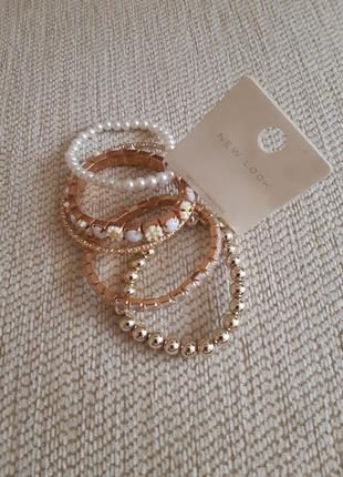 Бижутерия,набор браслетов, комплект браслетов, браслеты на руку от new look!