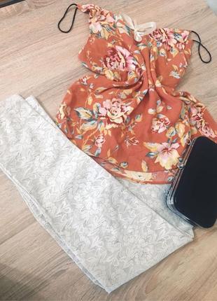 Новые кружевные брюки лосины уникальная лимитированная вещь