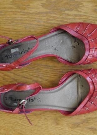 Туфлі літні шкіряні розмір 40 стелька 26,1 см tamaris
