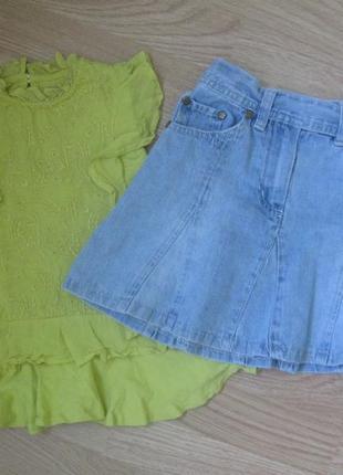 Набор  туничка юбка джинсовая.