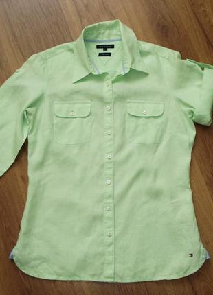 Льняная рубашка, tommy hilfiger, р.6