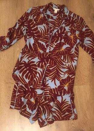 Костюм пижама h&m 34 размер в идеале легкий