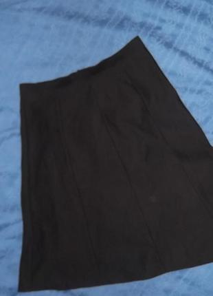 Юбка черная годе клиньями
