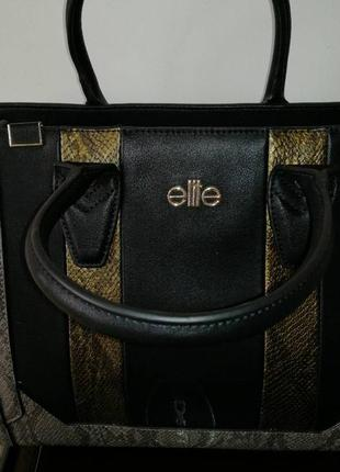 Шкіряна сумка elite