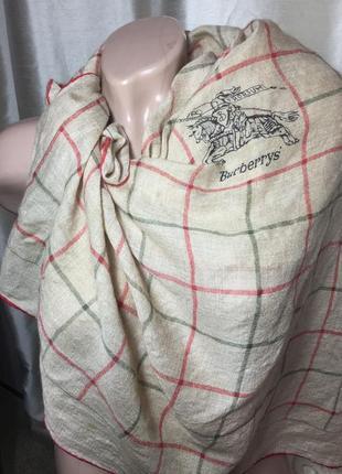 Оригинал/ винтажный платок из тонкой шерсти/ шов роуль