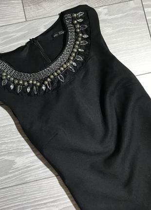 Короткое чёрное платье чехол размер с zara