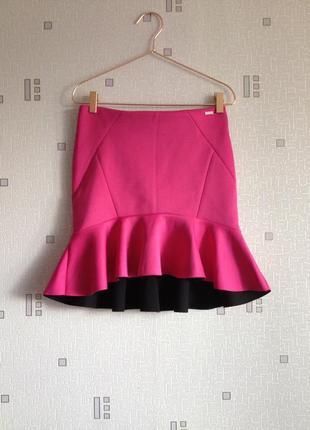 Неопреновая юбка mohito цвета фукси размер 38