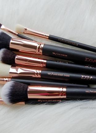 Набор кистей для макияжа 8 шт с супер клатчем-косметичкой только реальные фото