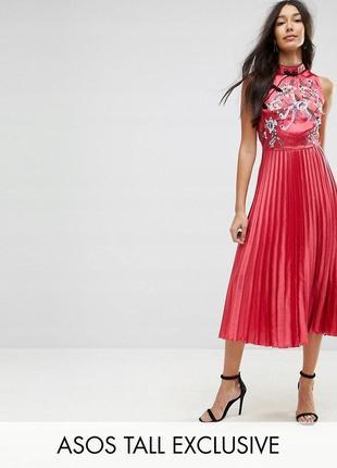 💙🎄✨ новорічний розпродаж! asos шифонова сукня з вишивкою доставка ... 90fe52588f4b1