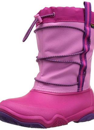 Сапоги crocs swiftwater wp snow boot раз. c8 и c10 - 14, 7 и 16, 7см
