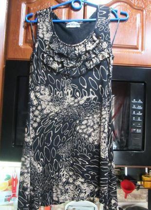 Легкое вискозное платье туничка