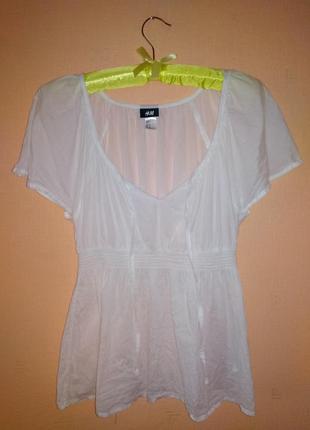 H&m блуза воздушная, лёгкая/// много интересного///