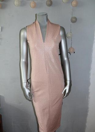 Пудровое миди платье zara