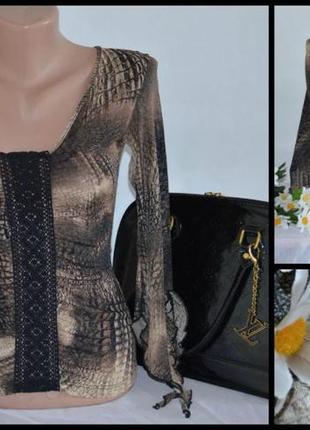 Брендовая шифоновая блуза jane norman