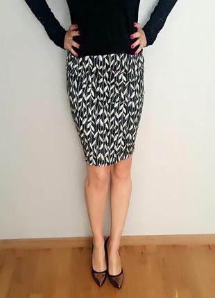 Хлопковая прямая юбка карандаш на 46-48 размер