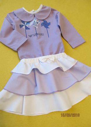 Платье armani baby для девочки 9-12 мес