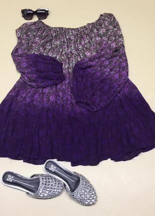 Туника-платье с открытыми плечами