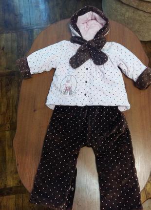Демисезонный комбинезон костюм + в подарок человечек и шапочка