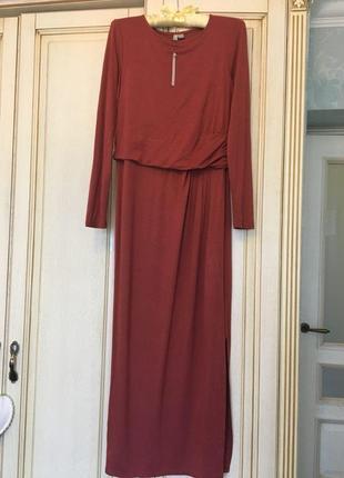 Супер удобное длинное платье асос asos  из вискозы