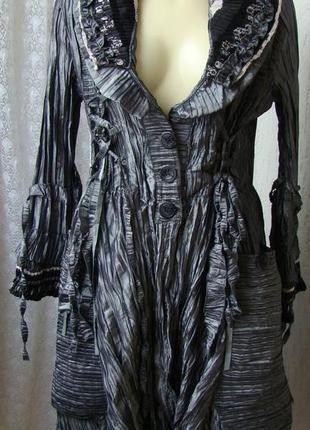 Плащ женский демисезонный модный красивый серый миди бренд my design р.46-48 №6126а