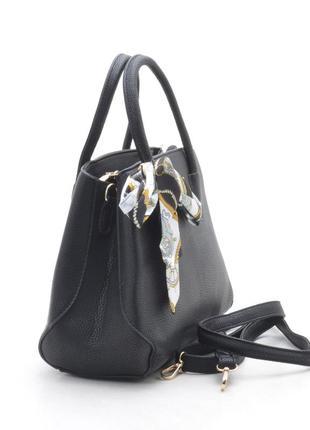 Женская сумка с платком 109 черная