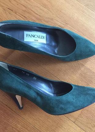 Pancaldi 1888 стильные замшевые туфли р. 40 италия винтаж