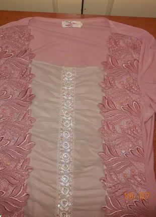 Красивейшая розовая блуза