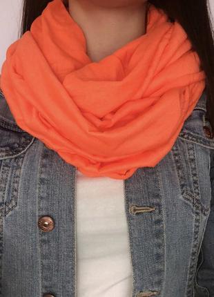 Яскравий шарф - хомут1 фото