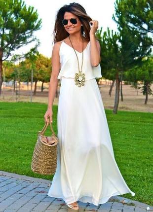Супер стильний сарафан , платья нежное от zara цвета слоновой кости