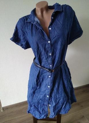 Платье легкий джинс джинсовое h&m размер хл 14
